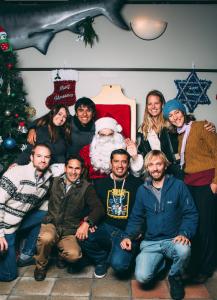 From top left: Carly Taft, Alfredo Giron, Santa Claus, Rachel Labbe-Bellas, Leticia Cavole, Timothy Rowell, Octavio Aburto, Arturo Ramirez- Valdez, Andrew Johnson