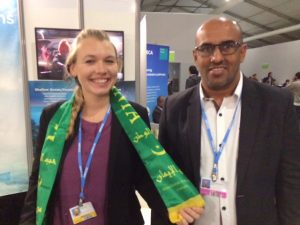 Natalya Gallo with Mauritania Representative